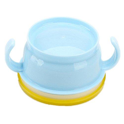 Baby forniture bambino doppio manico spuntino lattine cospargere bambino di biscotti piccola ciotola , blue