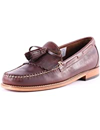 77e31b609a8 Mens G.H Bass Weejuns Layton Pull Up Kiltie Smart Leather Loafers Shoes