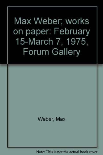 Max Weber; works on paper: February 15-March 7, 1975, Forum Gallery