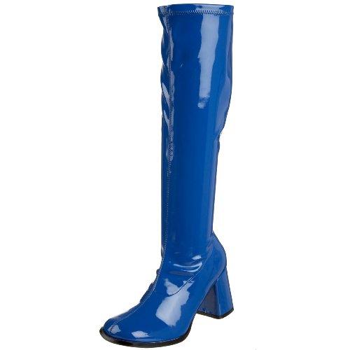 Funtasma Damen Kurzschaft Stiefel, Navy Blue Stretch Patent 37 1/3 ()