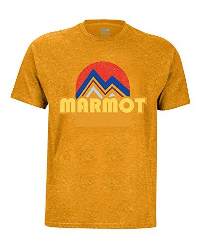 Marmot Herren Pt Reyes Tee Short Sleeve T-Shirt Kurzarm, Funktionsshirt, Schnell Trocknend & Atmungsaktiv, Aztec Gold Heather, XL (Figuren Aztec)
