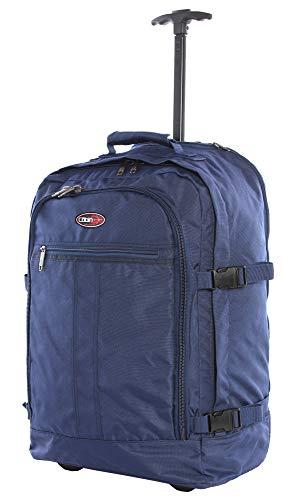 Cabin GO cod. MAX 5520 trolley - Zaino bagaglio a mano/cabina da viaggio leggero. - 55 x 40 x 20 cm, 44 litri - con ruote. Approvato volo IATA/EasyJet/Ryanair