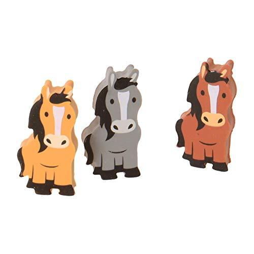 trendaffe Pferd Radiergummis im 3er Set - Pferde Radierer Pony