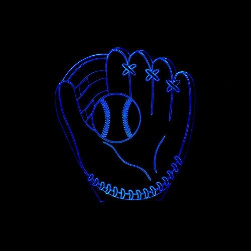 InnoWill Baseball Bälle Fans Deko Geschenk DekorationLED Lampe USB und batteriebetriebene 7Colors