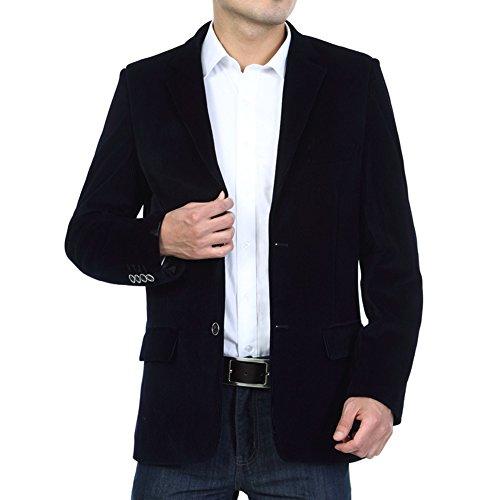 BiSHE Herren Sakko, schwarz (Cord-sakko)