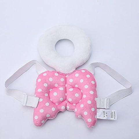Baby-Kopf schützen Kissen,Kinderschutz Flügel-netter Baby-Kopf Cap Fallschutz Schutzpolster für Baby-Wanderer (Rosa)