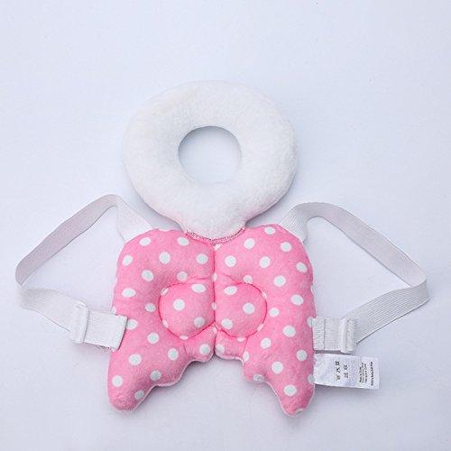 Preisvergleich Produktbild Baby-Kopf schützen Kissen,Kinderschutz Flügel-netter Baby-Kopf Cap Fallschutz Schutzpolster für Baby-Wanderer (Rosa)