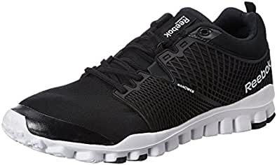 Reebok Men's Quick Tempo Flex Black,Grey,Silver And White Running Shoes - 13 UK