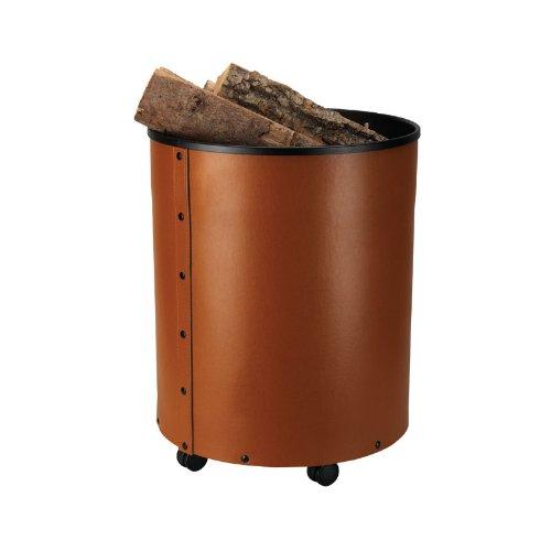 Preisvergleich Produktbild Schössmetall Rumba Holzbehälter/Korb Leder, braun, 04220140