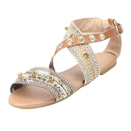 ODRD Sandalen Shoes Lässige Frühling Sommer Damen Damen Mode Casual Wohnungen Roma Schuhe Sandalen Schuhe Strandschuhe Freizeitschuhe Turnschuhe Hausschuhe