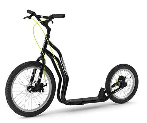 Mezeq RunRun Yedoo Scooter Tretroller 20/16 Zoll schwarz Disc-Brake Offroad-Reifen   Cityroller für Erwachsene und Jugendliche
