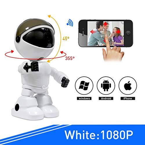 HWUKONG BabyMonitor, Appareil Photo babyphone 1080PHD, Nanny Cam activée WiFi, Conversation à 2 Voies avec alertes de cellules activées par Le Mouvement, Compatible avec iPhone et Android