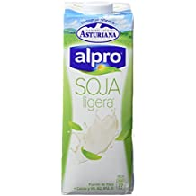 Alpro Central Lechera Asturiana Bebida de Soja Ligera Calcio - Paquete de 6 x 1000 ml