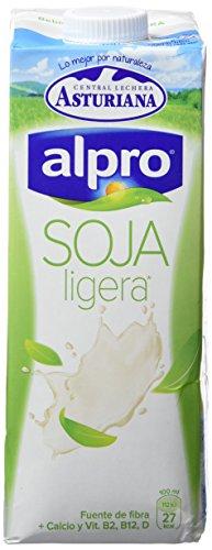 Alpro Central Lechera Asturiana Bebida de Soja Ligera Calcio - Paquete de 6 x 1000 ml - Total 6000 ml