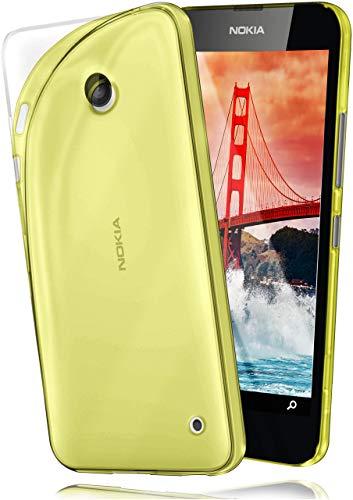 moex Cover di Protezione Nokia Lumia 630/635 Custodia Case Silicone Sottile 0,7mm TPU | Accessori Cover Cellulare Protezione | Custodia Cellulare Paraurti Cover Traslucida Trasparente Acid-Yellow