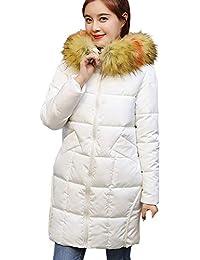 4e4db071e83 Manteau Femme Hiver Chaud Parka Doudoune Blouson Veste d hiver pour Dame  avec Capuche en