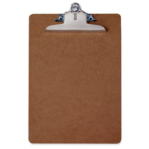 Saunders 05612 Hartfaser Klemmbrett, extra starke Klemme, Schreibplatte aus stabiler Holzfaser, beidseitig geschliffen, braun Test