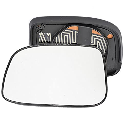 For Isuzu Rodeo Denver 2006-2009 passenger left hand side Heated wing door silver mirror glass with backing plate