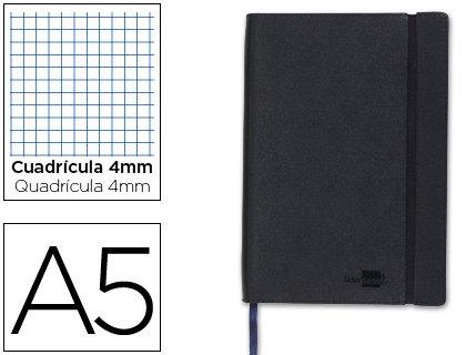 libreta-liderpapel-simil-piel-a5-120-hojas-70g-m2-cuadro-5mm-sin-margen-negro