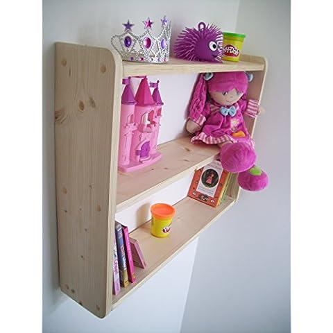 Grande 74 cm x 50 cm signicase pino niños estantes, de almacenamiento, estantería, estantes del cuarto de baño, dormitorio estantes, estantes de la cocina, almacenaje