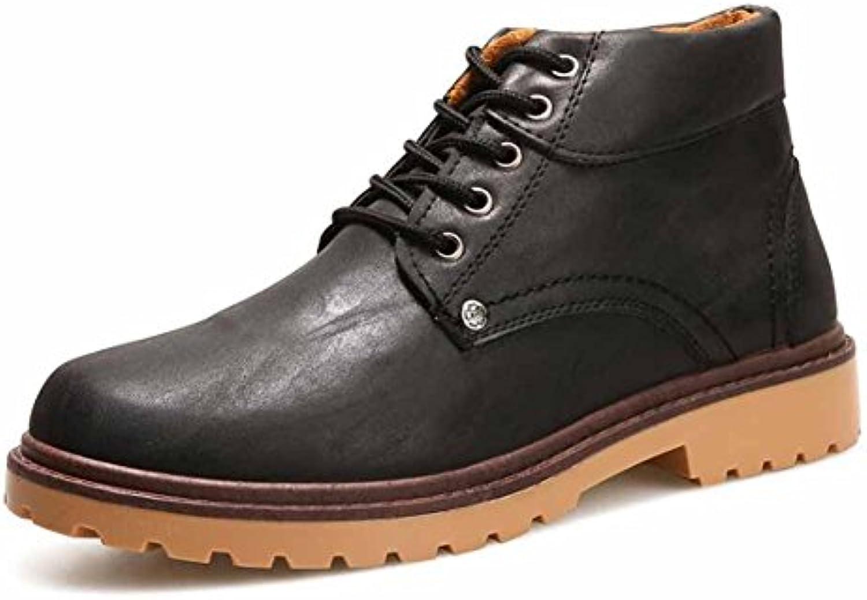 les hommes de l'angleterre bottes décontracté martin bottes l'angleterre automne hiver tooling bottes b075vxp fr8 court b ot te s haut classique parent 165a75