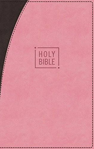 Niv, Premium Gift Bible, Leathersoft, Pink/Brown, Red Letter Edition, Indexed, Comfort Print