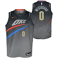Nike NBA Oklahoma City Thunder Russell Westbrook 0 2017 2018 City Edition Jersey Official, Camiseta