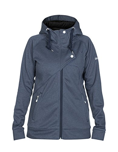 Zimtstern Damen Jozi Fleece Jacket, Navy Heather, M