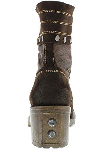 Fly London Luga, Boots femme brun/brun foncé