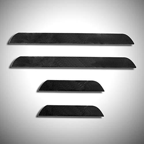 Cobear 4D Kohlefaser Einstiegsleiste Schutz Aufkleber Reflektierende Lackschutzfolie für 116i 118d 118i 120d 120i 130i E81 E82 E87 E88 Einstiegsleisten 4 Stück
