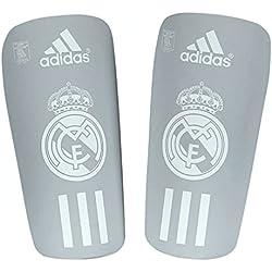 Adidas RM Pro Lite - Espinillera de Fútbol, Gris / Blanco, XL, Pack de 2