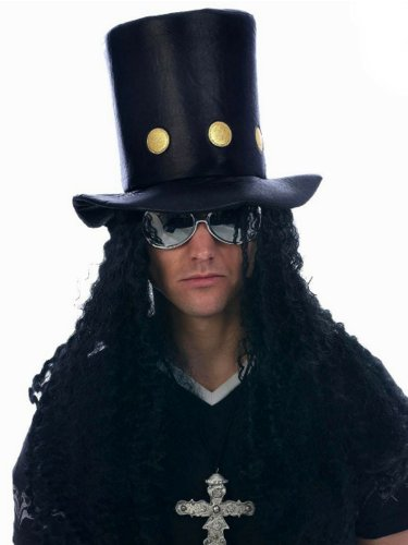 80er Kostüm - 80s Rock Star Slash Kostüm Hut, Kostüm (Hut Slash Kostüm)