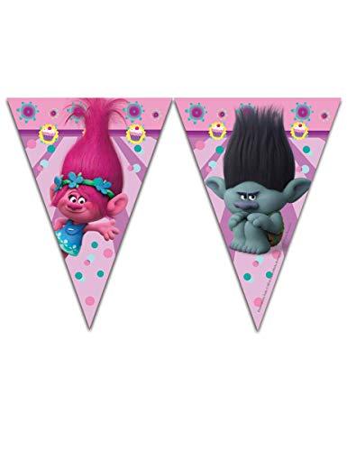 Trolls - Guirnalda, 9 banderines, 2.3 m (Procos 6887022)