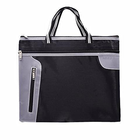 Business Handcarry Briefcase Document File Bag, SAYEEC Multipurpose Lightweight Durable Waterproof A4 Document File Case Zipper Storage Organizer Bags