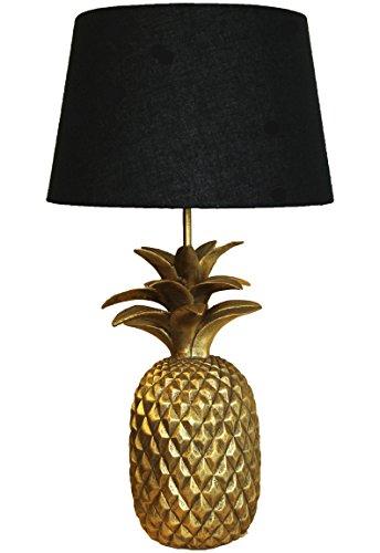 Bada Bing Hochwertige Große Tischlampe Ananas Gold Schwarz Lampe Dekolampe Tischleuchte Extravagant Edel 65