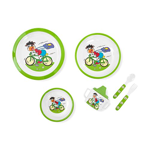 Innovaciones MS 8604 - Vajilla 6 piezas, diseño ciclista