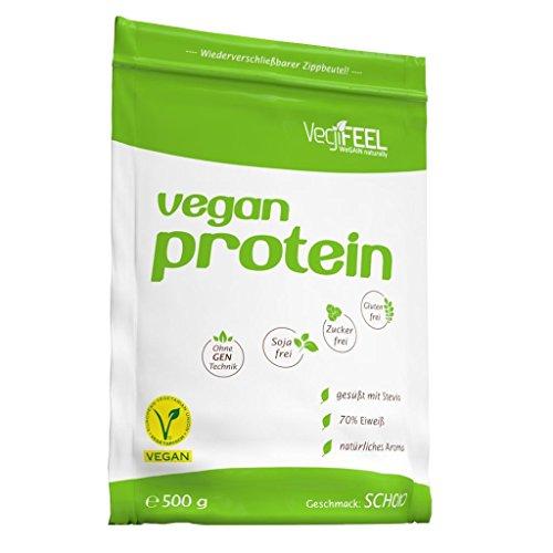 VegiFeel Veganes Protein, 500g Zip-Beutel , Schoko (5er Pack) - 2