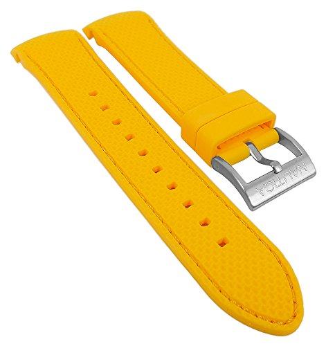 Uhrenarmband Silikon - gelb für Nautica NST Kollektion - Gehäuse Ø 48mm - A18675G