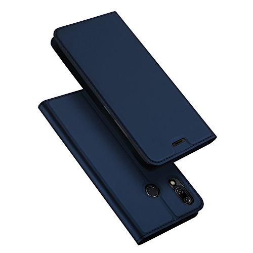 ASUS ZenFone 5Z ZS620KL Hülle,ZenFone 5 ZE620KL Hülle,DUX DUCIS Handyhülle [Standfunktion] [1 Kartenfach] [Magnetverschluss] [Blau] Ultra Dünn Holster,Slim Flip Case Cover,Ledertasche Schutzhülle für ZenFone 5Z / 5