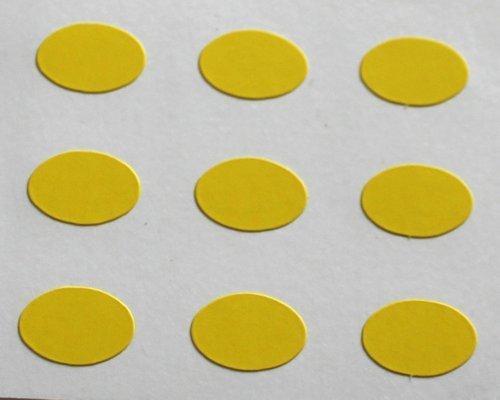 150 Etiquetas, 10x7mm Ovalados, Amarillo, pegatinas autoadhesivas, Minilabel Formas