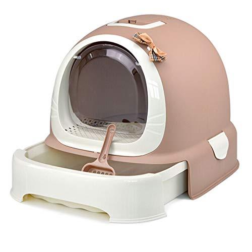 SuyunPP WC-Katzentoilette Becken Voll Geschlossenes WC Katzentoilette Katzentopf Deodorant Anti-Splash Haustier Liefert Katzentopf