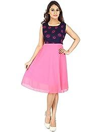 Franclo Women's A-line Dress (Georgette)