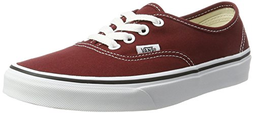 Vans authentic, scarpe running unisex – adulto, rosso (madder brown/true white), 44.5 eu