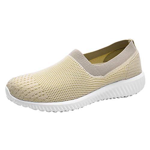 Schuhe Damen Mode Gute Qualität Sommer Täglich Draussen Mesh-Schuhe Beiläufig Schlüpfen Bequeme Sohlen Laufsportschuhe Slip on Schuhe By Vovotrade Heel Ankle Wrap Mini