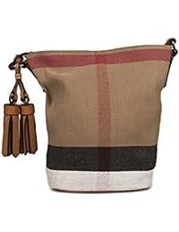 Burberry - Bolso al hombro para mujer Marrón marrón Marke Größe