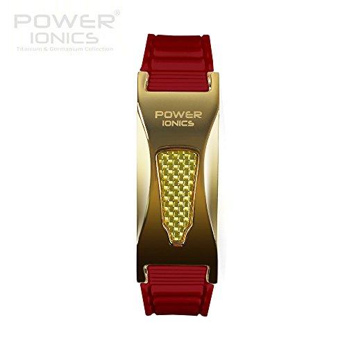 Power Ionics Bracelet Armband Powerarmband PowerIonics Ionenarmband Energie Wristband Magnet Armband 2000ioncs Smart Sports Bracelet Wristband PT057S (gold/red)