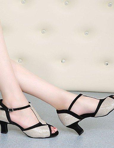 shangyi pas personnalisables–talon compensé–cuir–Latin–Femme - Marron