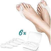 Queta Zehenspreizer, Gel-Zehenspreizer, 3 Stück, zur Schmerzlinderung bei schiefen Zehen, Druck und Hallux Ballenzehnen preisvergleich bei billige-tabletten.eu