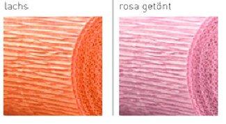 Floristen Krepp rosa-getönt, 160 gr./qm wasserfest, im preiswerten 5 Rollen Set, Lieferung frei Haus (Rosa Krepp-papier)
