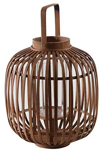 Lanterne ronde en bambou naturel